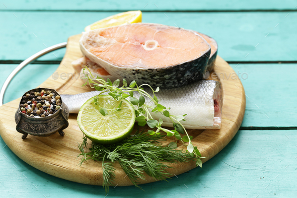 Raw Fish - Stock Photo - Images
