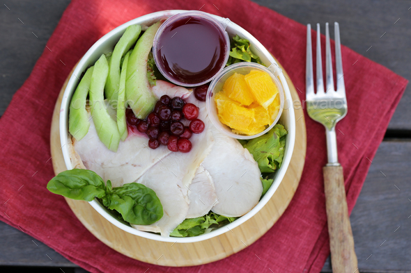 Salad with Turkey - Stock Photo - Images