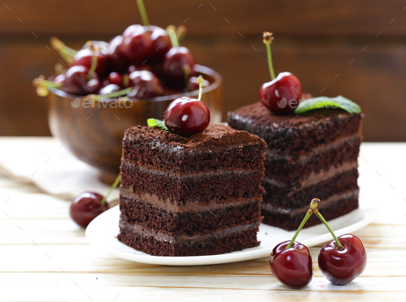 Chocolate Truffle Cake - Stock Photo - Images