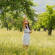 Woman in Apple Garden - VideoHive Item for Sale