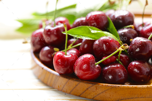 Fresh Ripe Cherry - Stock Photo - Images