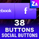 38 Convex Social Buttons - GraphicRiver Item for Sale