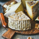 Cheese assortment on board, close-up, vertical composition - PhotoDune Item for Sale