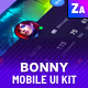 Bonny Hero App / Phone / Mobile UI - GraphicRiver Item for Sale
