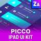 PICCO |  UI - UX Kit iPad Tablet App - GraphicRiver Item for Sale