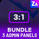 Admin Panels Bundle | 3 Admin Panels Kit - GraphicRiver Item for Sale