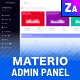 Materio - Responsive Admin Template  - GraphicRiver Item for Sale