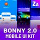 Bonny Hero App | Phone | Mobile UI ver. 2.0 - GraphicRiver Item for Sale