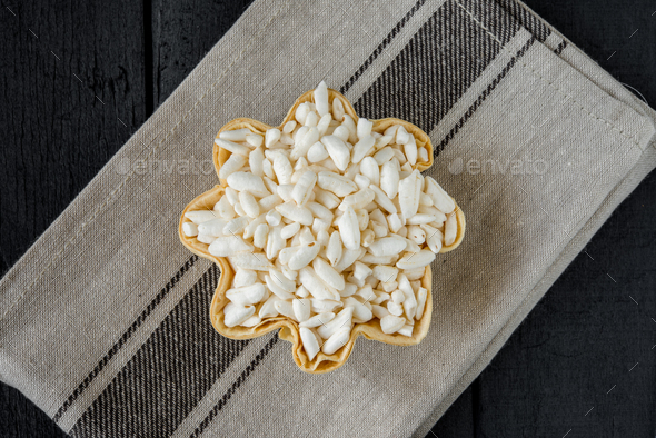 white puffed rice - Stock Photo - Images