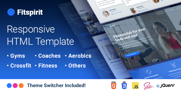 Fitspirit – Responsive Landing Page Template Fitnessclub for Body and Soul