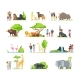 Happy Families and Wild Zoo - GraphicRiver Item for Sale
