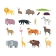 Cartoon African Savannah Animals - GraphicRiver Item for Sale