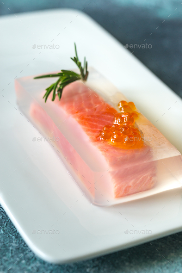 Red fish in aspic - Stock Photo - Images