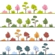 Abstract Trees In Different Colors