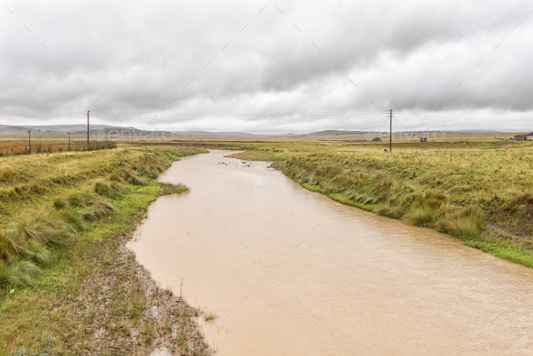 The Bloedrivier (blood river) at Ncome in Kwazulu-Natal - Stock Photo - Images
