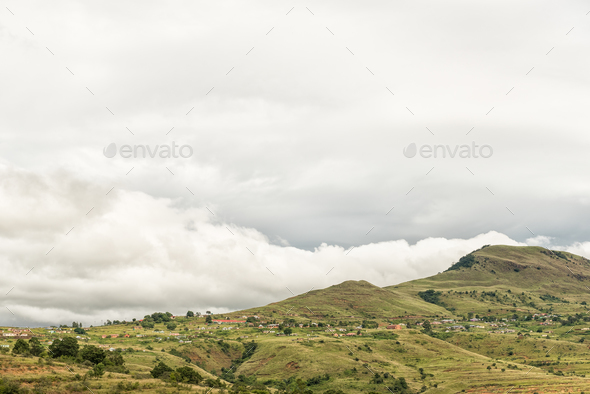 Nkumba township between Boston and Bulwer in Kwazulu-Natal - Stock Photo - Images