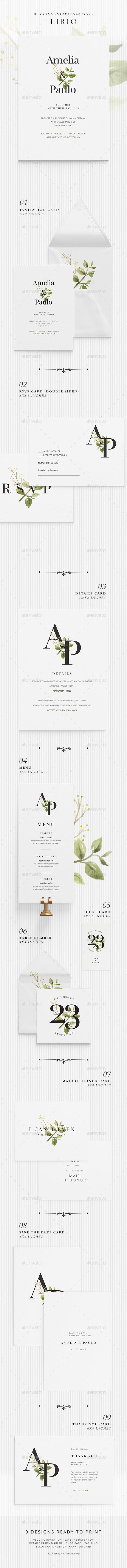 Wedding Invitation Suite - Lirio - Weddings Cards & Invites