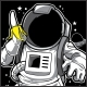 Astronaut & Banana T-Shirt Design - GraphicRiver Item for Sale