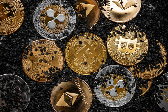 Cryptocurrency concept - Stock Photo - Images