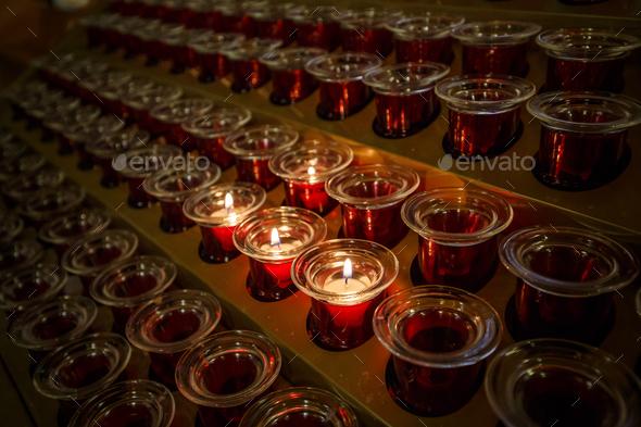 Burning candles - Stock Photo - Images