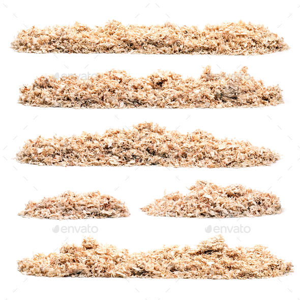 Set of pile of saw dust - Stock Photo - Images
