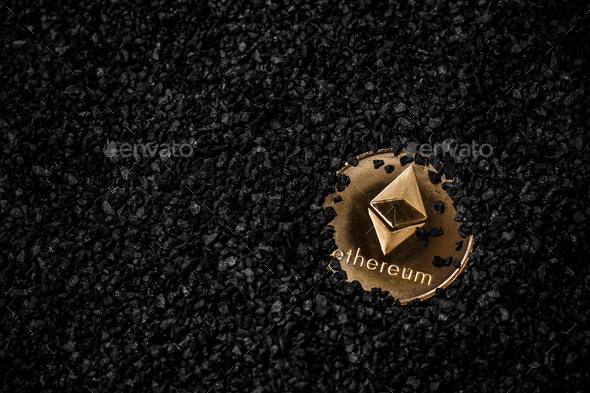 Crypto currency ethereum - Stock Photo - Images