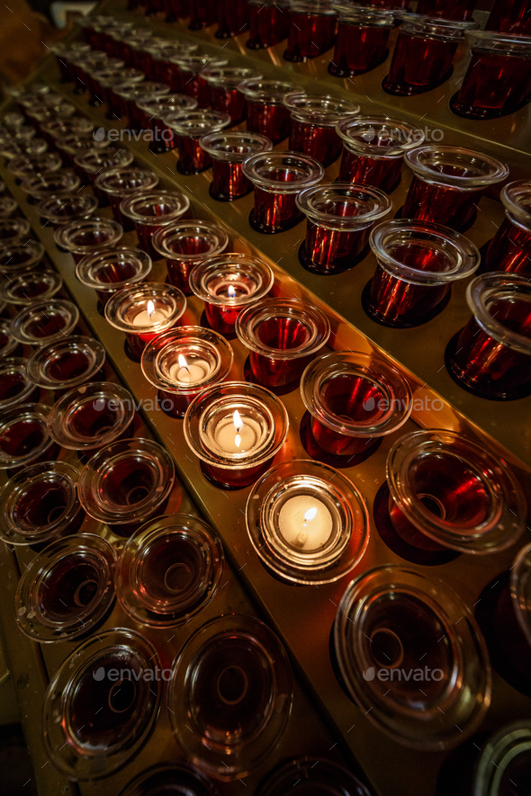 Church candles - Stock Photo - Images