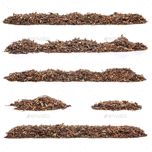 Set of dry tea leaves - Stock Photo - Images