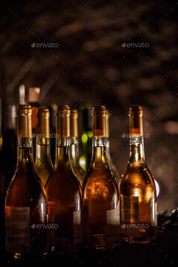 Set of Wine bottles - Stock Photo - Images