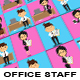 Cartoon Character Office Mascots - GraphicRiver Item for Sale