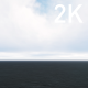 Bright White Cumulus Clouds over the Dark Blue Ocean - VideoHive Item for Sale