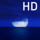 Great Moon At Night on the Dark Ocean and the Blue Sky - VideoHive Item for Sale