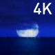 The Great Moon At Night on the Dark Ocean and the Blue Sky - VideoHive Item for Sale