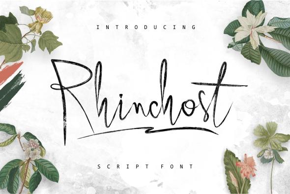 Rhinchost Typeface - Script Fonts