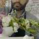 View of Hands of Professional Male Floral Artist Preparing a Bouquet - VideoHive Item for Sale