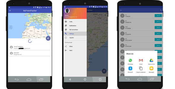 Tracking app with Firebase            Nulled