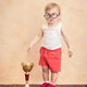 Baby funny sportsman. Success and winner concept - PhotoDune Item for Sale