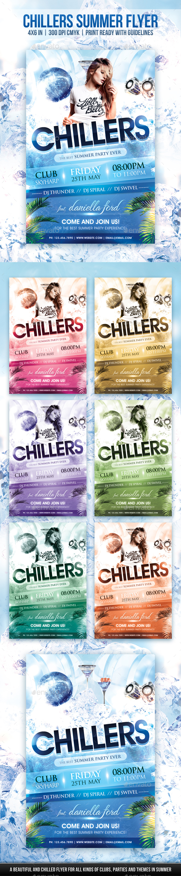 Chillers Summer Flyer - Clubs & Parties Events