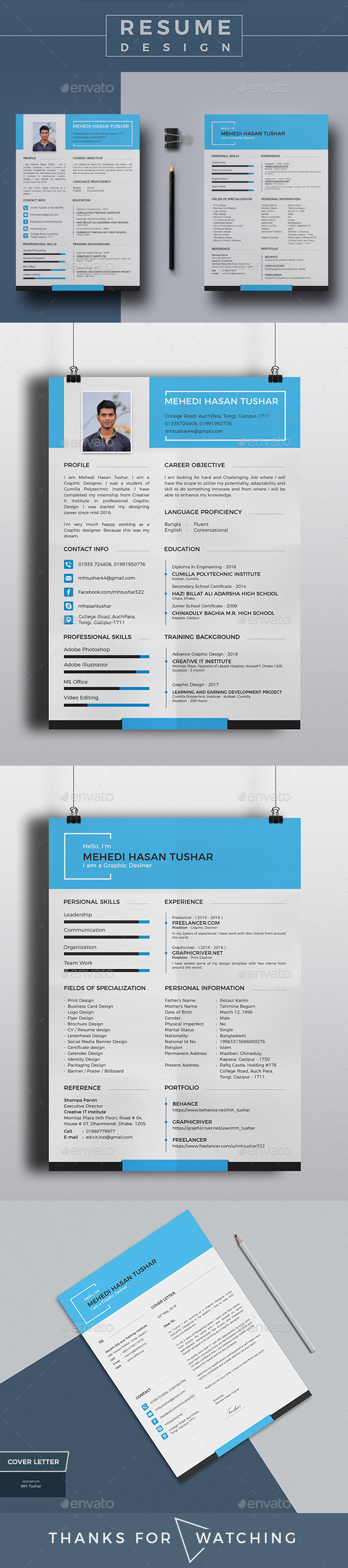 Personal  Resume & Cover Letter - Resumes Stationery