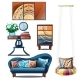 Interior with Colorful Ornaments Isolated - GraphicRiver Item for Sale