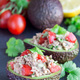 Salad with tuna, avocado, tomatos, coriander and lemon juice ser - PhotoDune Item for Sale