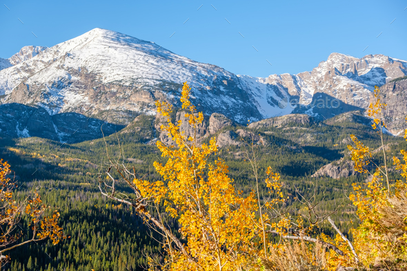 Autumn in Rocky Mountains, Colorado - Stock Photo - Images