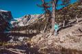 Tourist near Dream Lake in Colorado - PhotoDune Item for Sale