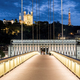 View of Lyon by night from footbridge. - PhotoDune Item for Sale
