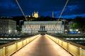 Night view of Lyon from footbridge - PhotoDune Item for Sale