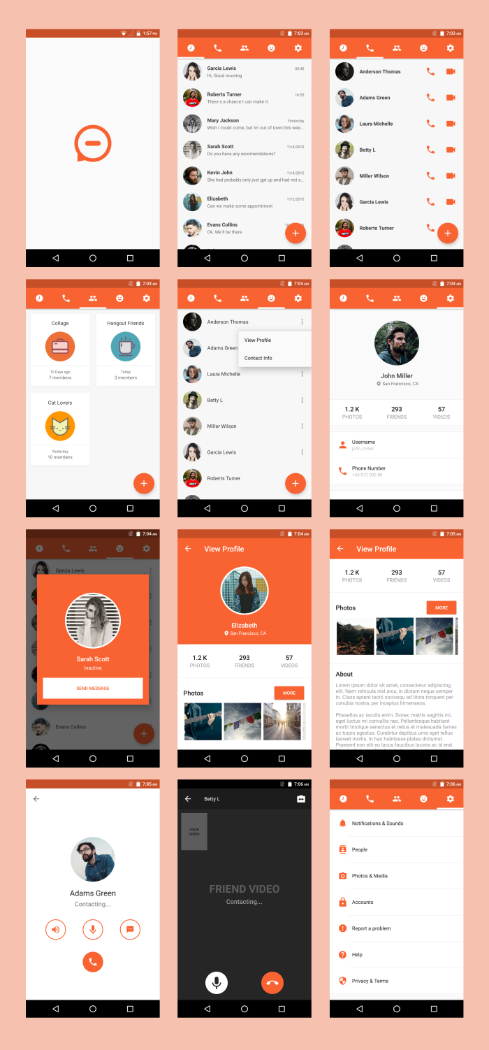 Android Material UI Template 4.0