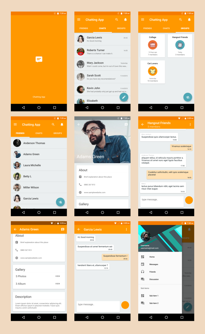 Android Material UI Template 4.0 by dream_space