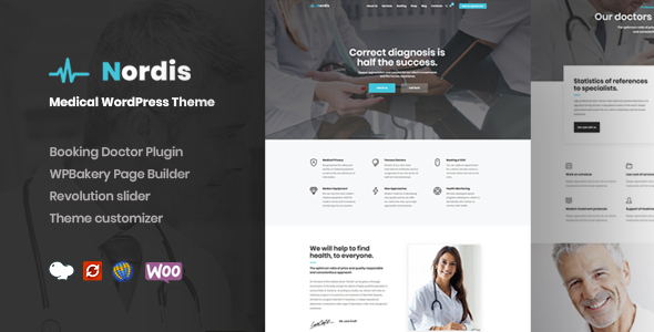 Nordis - Medical & Health WordPress Theme Free Download | Nulled