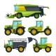 Combine Harvester and Others Tractors - GraphicRiver Item for Sale