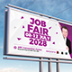 Job Fair Billboard Template